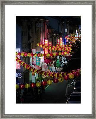 China Town Framed Print
