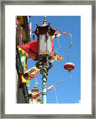Framed Print featuring the photograph China Town by Fanny Diaz