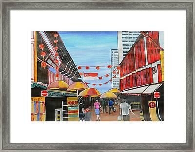 China Town Singaporesg50 Framed Print