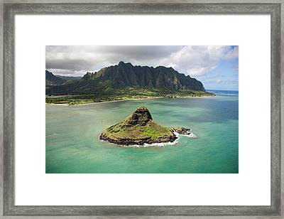 Chinamans Hat From Ocean Framed Print
