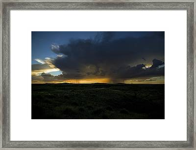 Chinati Storm Framed Print by Clyde Replogle