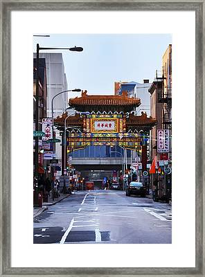Chinatown - Philadelphia Framed Print by Bill Cannon