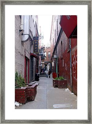 Chinatown Alley Framed Print by Sonja Anderson