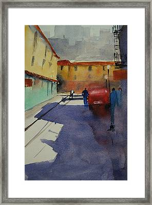 Chinatown Alley Framed Print