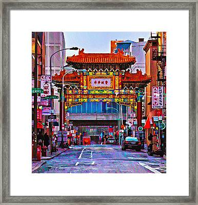 Chinatown Arch Philadelphia Framed Print by Bill Cannon