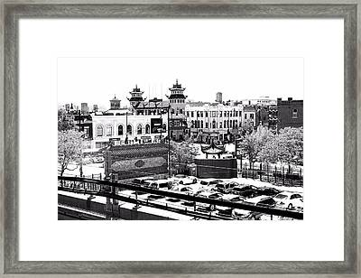Chinatown Chicago 4 Framed Print by Marianne Dow