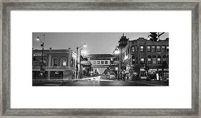 Chinatown Chicago Bw Framed Print