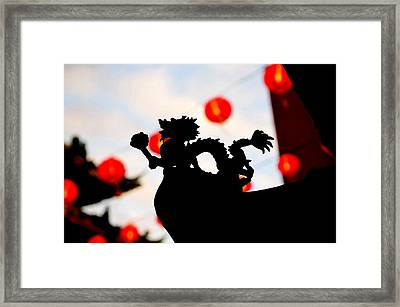 Chinatown Dragon Framed Print