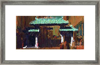 Chinatown Gate Framed Print by Wingsdomain Art and Photography