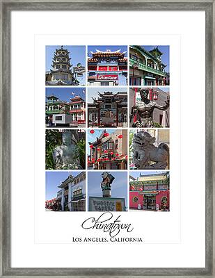 Chinatown Los Angeles Framed Print