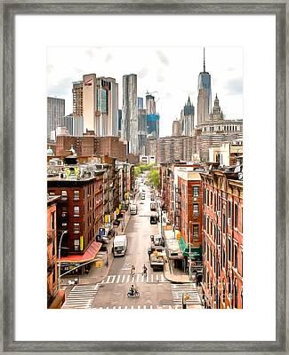 Chinatown Lower Manhatten New York City 20170917 V2 Vertical Framed Print