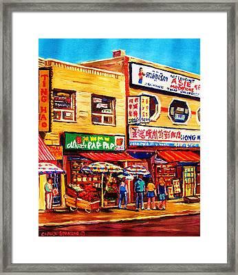 Chinatown Markets Framed Print by Carole Spandau