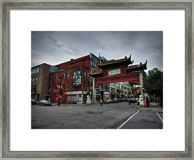 Chinatown Montreal 001 Framed Print