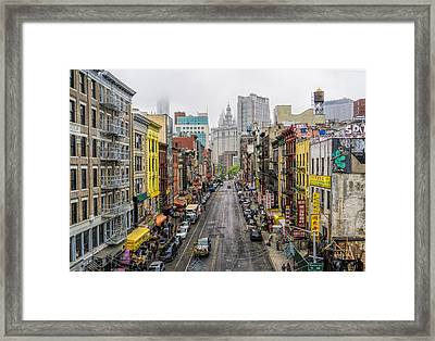 Chinatown Ny Framed Print by June Marie Sobrito