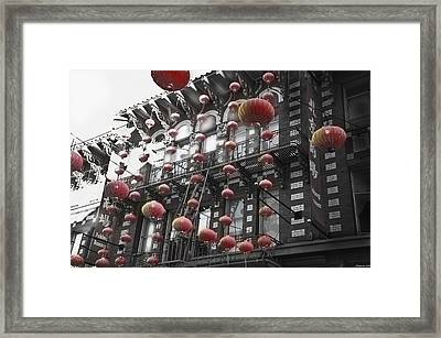 Chinatown San Francisco Framed Print by Larry Butterworth