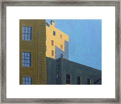 Chinatown Shadows Framed Print by Laurie Breton