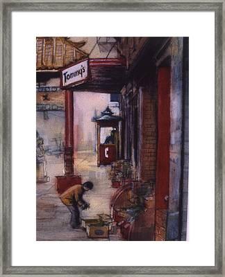 Chinatown Victoria Framed Print by Victoria Heryet