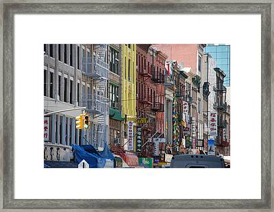 Chinatown Walk Ups Framed Print by Rob Hans