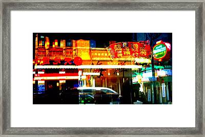 Framed Print featuring the photograph Chinatown Window Reflections 2 by Marianne Dow