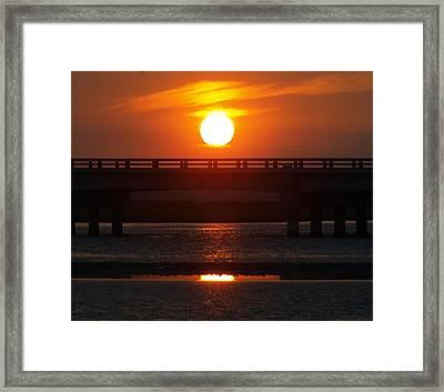 Chincoteague Island Bay Framed Print by Kim