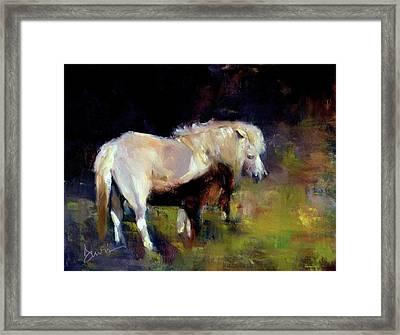 Chincoteague Pony Framed Print by Xx X