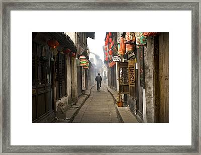 Chinese Alley Framed Print