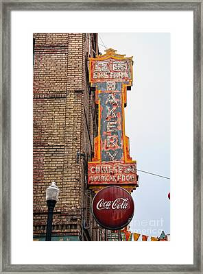 Chinese And American Food Sign Framed Print by RicardMN Photography