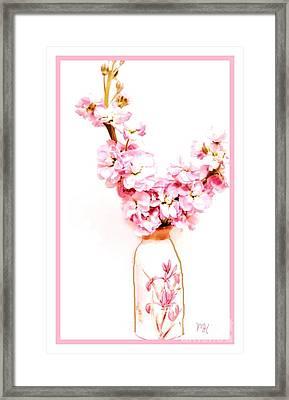 Framed Print featuring the digital art Chinese Bouquet by Marsha Heiken