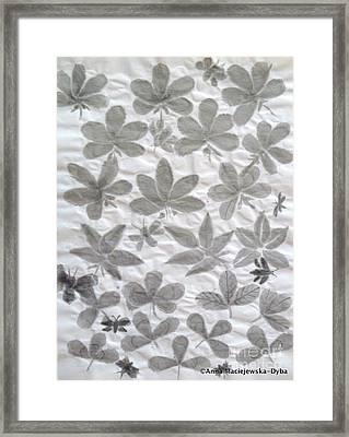 Chinese Brush Painting Practice Framed Print by Anna Folkartanna Maciejewska-Dyba