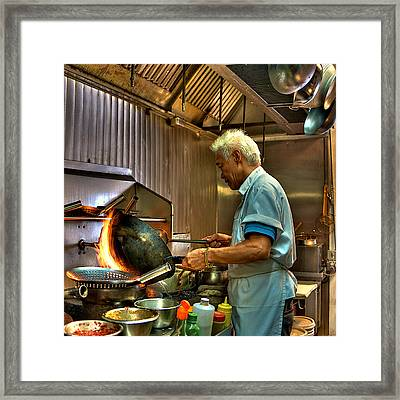 Chinese Chef Framed Print