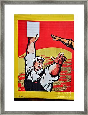 Chinese Communist Party Workers Proletariat Propaganda Poster Framed Print