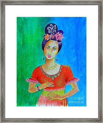 Chinese Dancer -- The Original -- Portrait Of Asian Woman Framed Print