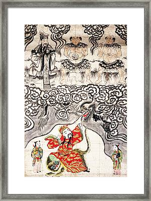 Chinese Deities Of Medicine Framed Print by Wellcome Images