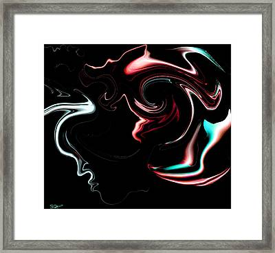 Chinese Dragon Midnight Dreamer Framed Print by Abstract Angel Artist Stephen K