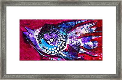 Chinese Duck Fish With Ladybug Framed Print by J Vincent Scarpace