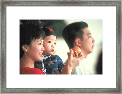Framed Print featuring the photograph Chinese Family by Douglas Pike