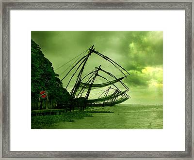 Chinese Fishing Net Framed Print by Farah Faizal
