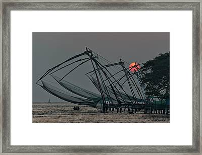 Chinese Fishing Nets, Cochin Framed Print by Marion Galt