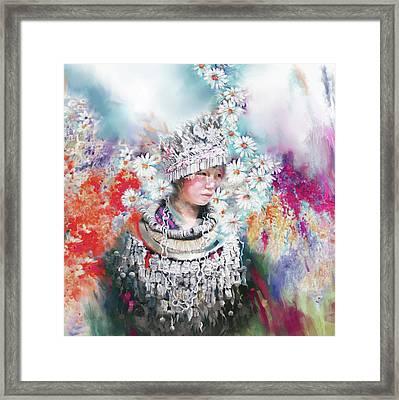chinese girl 178 I Framed Print by Mawra Tahreem