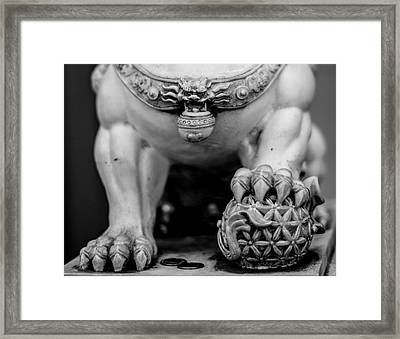Chinese Guardian Lions Shishi Framed Print by Silvia Bruno