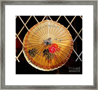 Framed Print featuring the photograph Chinese Hand-painted Oil-paper Umbrella by Yali Shi