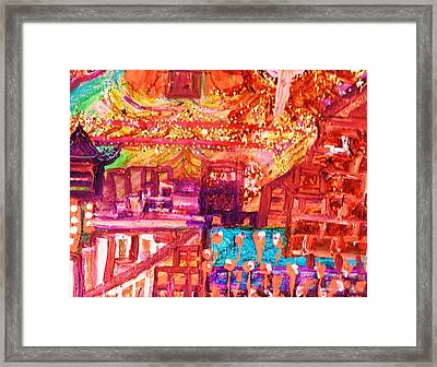 Chinese If You Please New Year Framed Print by Anne-Elizabeth Whiteway