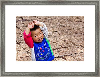 Chinese Boy Joy Framed Print