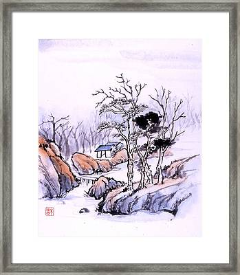 Framed Print featuring the painting Chinese Landscape by Yolanda Koh