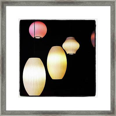 Chinese Lanterns In London  #chinatown Framed Print