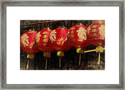 Chinese Lanterns Framed Print