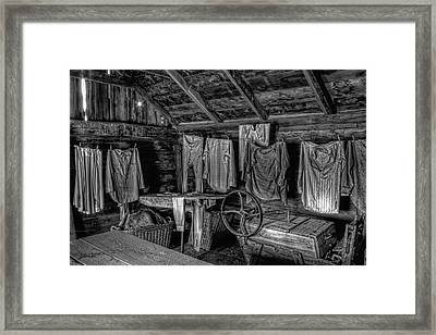 Chinese Laundry In Montana Territory Framed Print by Daniel Hagerman