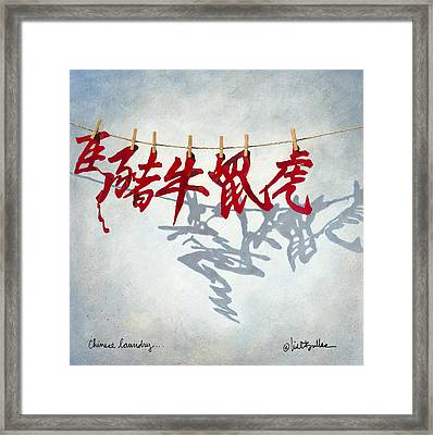 Chinese Laundry... Framed Print by Will Bullas