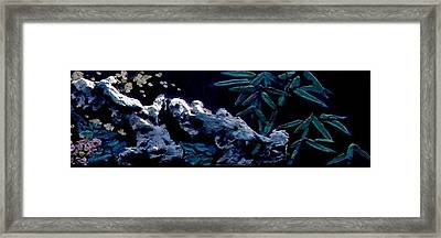 Chinese Mural Wall Tile Three Framed Print by Kathy Daxon