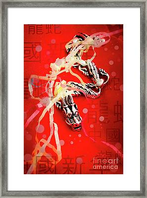 Chinese New Year Background Framed Print